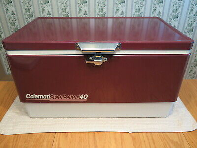 Ice Tray in Retail Box 44 QT 5254-703 LOW-BOY Camping Kühlschrank Vintage Coleman Steel Red Cooler