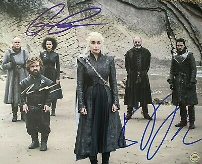 Game of Thrones Cast Signed 8x10 Photo Reprint Emilia Dinklage Kit Harrington S