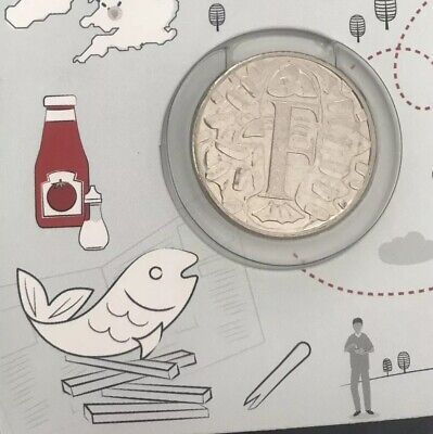 NEW A-Z 2018 ALPHABET 10p COIN HUNT - LETTER F - F FOR FISH AND CHIPS - RARE