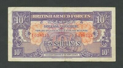 BRITISH ARMED FORCES  10 sh  1946  1st Issue  VF  England Banknotes