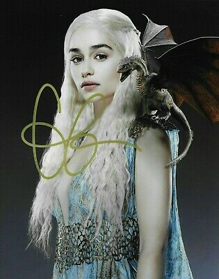 Emilia Clarke GAME OF THRONES Signed 8x10 photo REPRINT