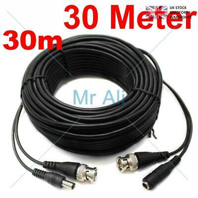 30METRE PRE-MADE SIAMESE CABLE CCTV BNC VIDEO AND DC POWER CABLE 30m (copy)