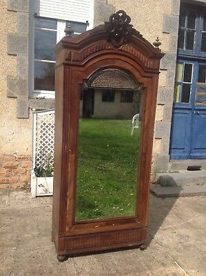 French antique vintage Henri ii style burr walnut wardrobe
