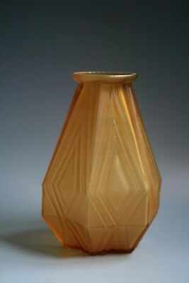 French Art Deco Period  Amber Glass Vase