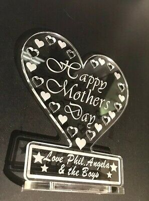 PERSONALISED HEART FOR Mummy, Happy Mother's Day, Birthday