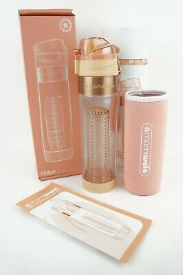 1bed3bb6a4 🔥MAMI WATA Rose Gold 700ml BPA Free Fruit Infuser Water Bottle Tumbler🔥