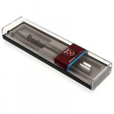 West Ham United Fc Executive Ball Point Pen Blue Ink In A Clear Gift Box Xmas