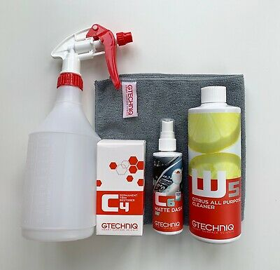 Gtechniq Trim & Plastics Restore Kit - C4 30ml, C6AB 100ml, W5 500ml plus more