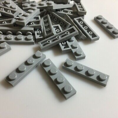 Part 3710 Lego Dark Stone Grey Plate 1x4 New Qty:25 Element 4211001