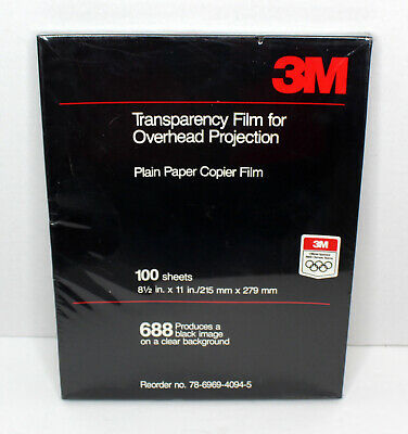 3M 688 Transparency Film for Overhead Projectors 100 Sheets 8.5x11 NOS