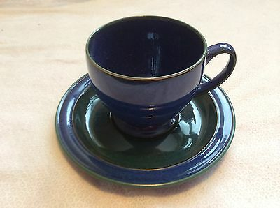 DENBY METZ Blue Tea/Coff Cup & Saucer - Good gift for Man in your Life BRAND NEW
