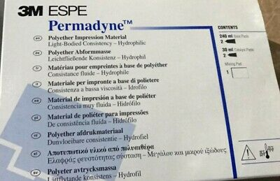 3M ESPE Permadyne Light Body Tubes - Polyether Impression Material (30750)