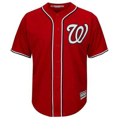 Washington Nationals Majestic MLB AC Cool Base Replica Jersey - Red