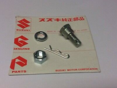 NOS SUZUKI PARTS Rear Brake Torque Arm Front Bolt Kit Gt185 Gt200X5 Gt250X7