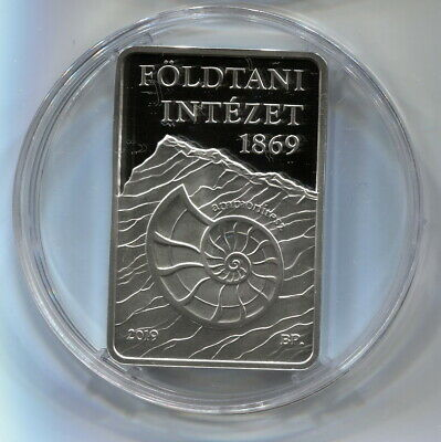 Hungary Silver 10000 Forint 2019 Proof Hungarian Geological Institute