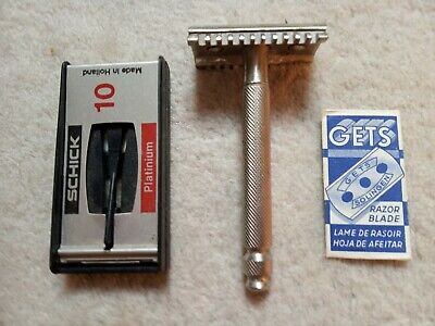 Vintage Shaving Lot - Safety Razor & Blade - mid 20 century