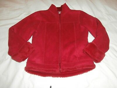 Girls NEXT red faux suede jacket age 10