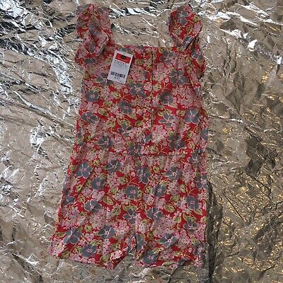 NEXT 5-6 Years Girls Playsuit BNWT Floral Print Romper Summer Outfit Pink Beach