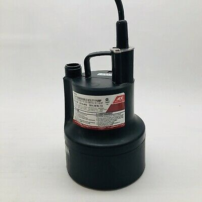 Ace 4039004 Submersible Utility Pump Drain Down To 1/8 In Of The Surface 1/10 Hp