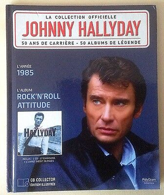 Johnny HALLYDAY 1985 Rock n'roll attitude CD & Livre relié 28 pages