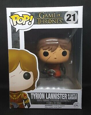 Funko Pop + Protector! Game of Thrones #21 - Tyrionn Lannister in Battle Armor