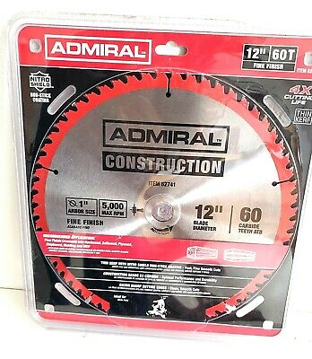 New ADMIRAL 12 in. 60T Fine Finish Circular Saw Blade free Shipping