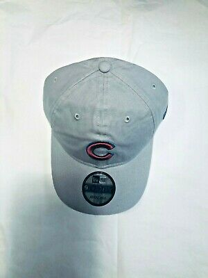 the latest c9722 cb380 Chicago Cubs Mlb New Era 9Twenty Adjustable Grey Hat With Red Logo - Brand  New
