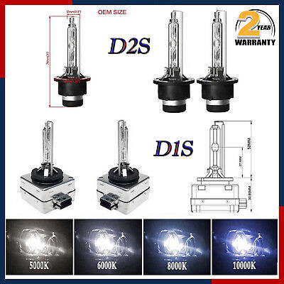 35W D1S D2S D1R D2R Xenon HID Headlights OEM Replace Direct Factory Bulbs 8000K