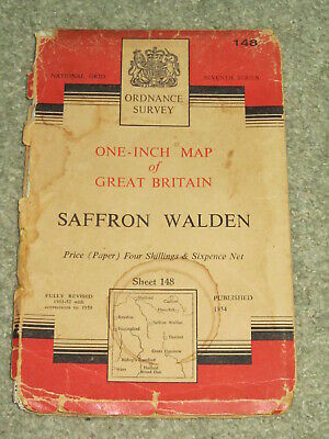 "OS Ordnance Survey 1"" Seventh Series - Sheet 148 Saffron Walden - on paper"