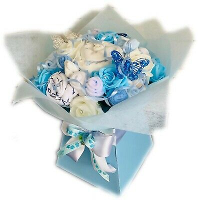 Baby Boy Clothes Bouquet Gift Maternity New Baby Shower Hamper Twins Gift Nappy