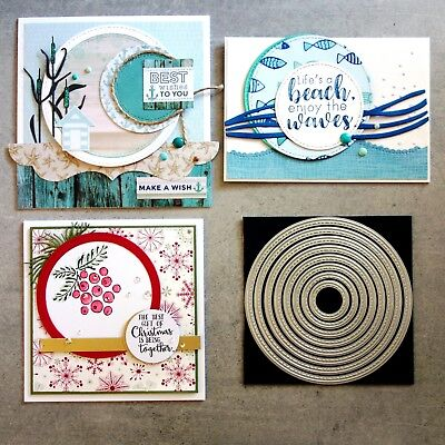 """""""CLEARANCE"""" Shopaperartz STITCHED NESTED CIRCLES 8PCE CUTTING DIES"""