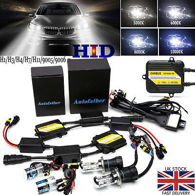 HID KIT AC CANBUS HI/LO XENON LIGHT H4 H7 H1 H3 H8 H11 9005 9006 Replace Halogen