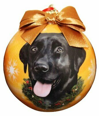 Black Lab Christmas Ornament Shatter Proof Ball Easy To Personalize