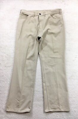 Levis Sta-Prest White Pants Big E Scoville Zipper 1960s 60s Mens Size 35/36x29