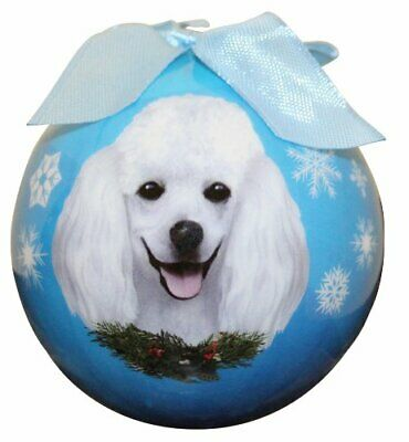 Poodle Christmas Ornament Shatter Proof Ball Easy To Personalize