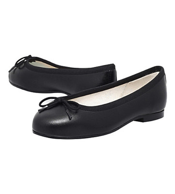 BNIB French Sole Henrietta Black Ballet(Girl Princess) Pumps UK1/Eu33 RRP £100