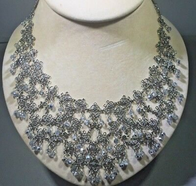 Baroque Crystal Bold Statement Necklace Antique Neiman Marcus Fine Jewelry $980