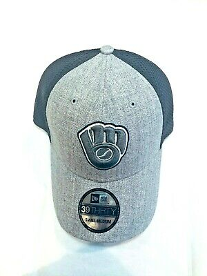 on sale 1e9aa 806bf Milwaukee Brewers Mlb New Era 39 Thirty Hat   Cap Brand New Grey Color