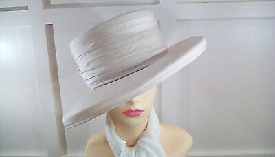 vintage cream hat stylish wedding races occasion formal hat