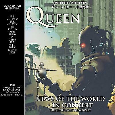 Queen News Of The World In Concert ltd GREEN vinyl LP NEW/SEALED