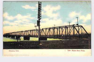 Ppc  Postcard Iowa Ottumwa Market Street Bridge
