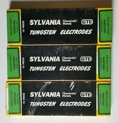 "Sylvania ""Puretung"" 1/8"" X 7"" Tungsten Electrode Lot Of 27 Pieces"