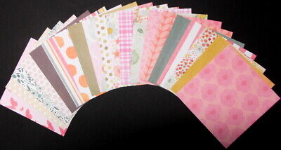 "SPRINGTIME Scrapbooking/Cardmaking Papers x 20  -  15cm x 15cm - (6"" x 6"")"