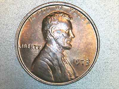 1973 P Lincoln Memorial Penny Cent OFF CENTER Strike Obverse & Reverse