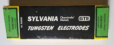 """Sylvania """"Puretung"""" 3/16"""" X 7"""" Tungsten Electrode Pack Of 10 (New)"""