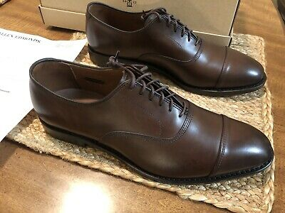 4451f06d1 Allen Edmonds Park Avenue Seconds Cap-Toe Dark Brown Dress Shoe Mens Size  8.5 D