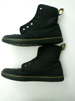 c8680b04cf3 DOC DR MARTENS Boots Size 6 Womens Shoreditch Black Ankle Canvas Sneaker 7  Eye