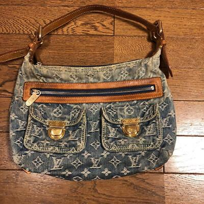 60b66ec884 Louis Vuitton Largo Pm Monogramma Blu Denim M95049 Borsa a Mano Usati