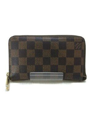 6f3df7d238 Louis Vuitton Zippy Compatto Damier Ebene Portafogli Moneta Card Case  Borsetta