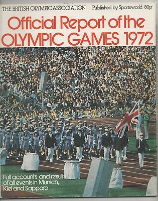 Official Report Of The Olympic Games, Munich 1972.
